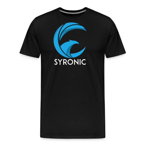 Syronic BLUE with text - Männer Premium T-Shirt
