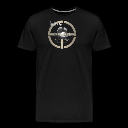 CAD Skull 9 White Text - Men's Premium T-Shirt
