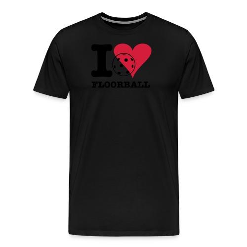 ilovefloorball2 - Men's Premium T-Shirt