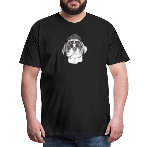 Boxer with cap - Herre premium T-shirt