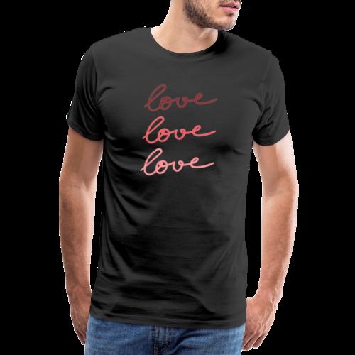 Love Valentinstag T-Shirt - Männer Premium T-Shirt