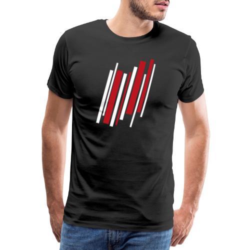 Red-White-Lines - Männer Premium T-Shirt