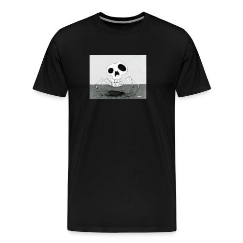 skull spider - Premium-T-shirt herr