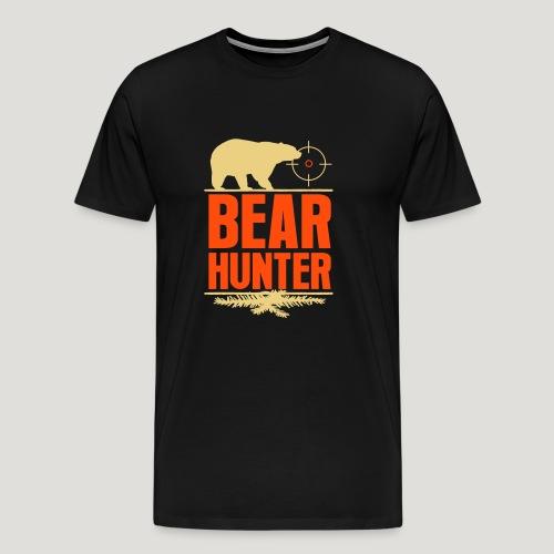 Jäger Shirt Bären Jäger - Bear Hunter Jagd Wild - Männer Premium T-Shirt