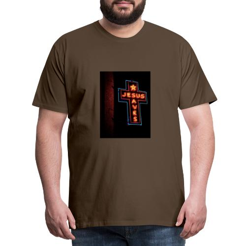 Jesus Saves - Men's Premium T-Shirt