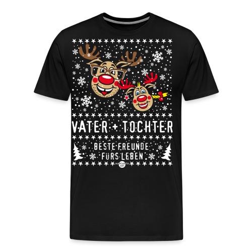 106 Hirsch Vater Tochter beste Freunde fürs Leben - Männer Premium T-Shirt