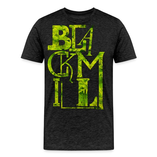 BLACKMILL large Fonts green