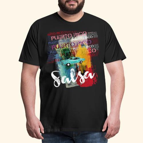 Salsa Puerto Rico Classic Car T-Shirt for Dancers - Men's Premium T-Shirt