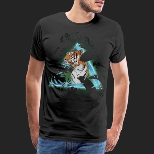 Tigre en soirée - T-shirt Premium Homme
