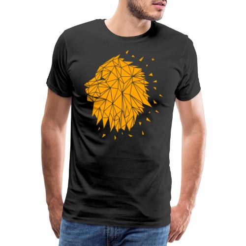 Lion - Orange - Männer Premium T-Shirt