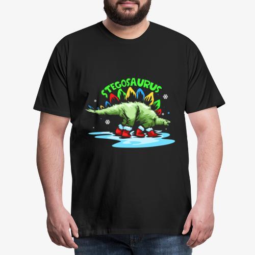 Stegosaurus Christmas gift - Men's Premium T-Shirt