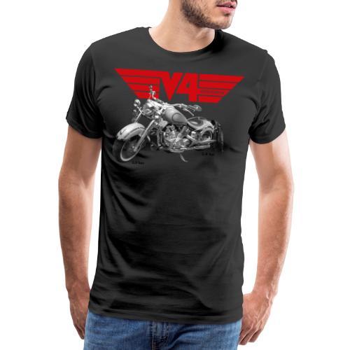 V4 Motorcycles red Wings - Männer Premium T-Shirt
