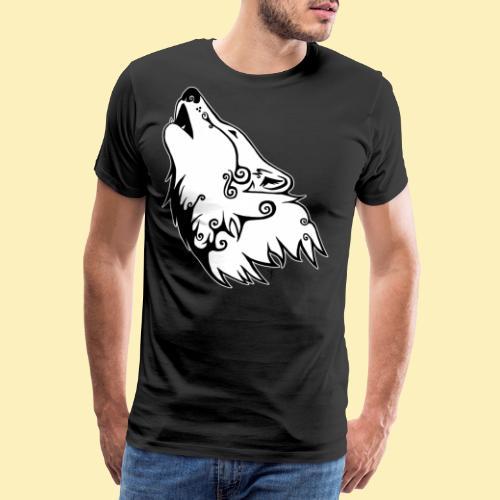 Le Loup de Neved (version contour blanc) - T-shirt Premium Homme