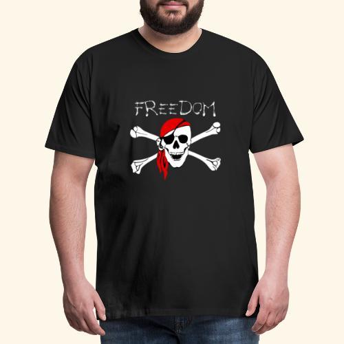 Freiheit Pirat Totenkopf - Männer Premium T-Shirt