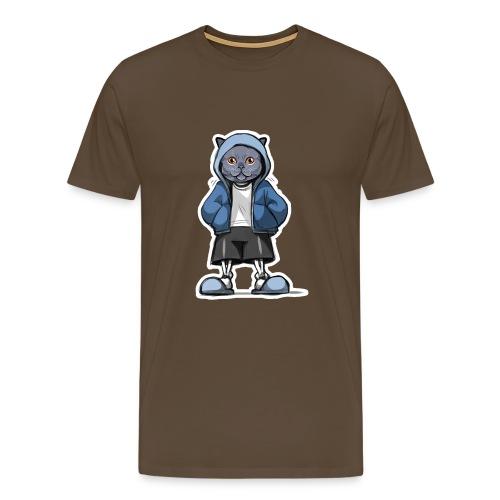 Katze Design für Kazenliebhaber - Männer Premium T-Shirt