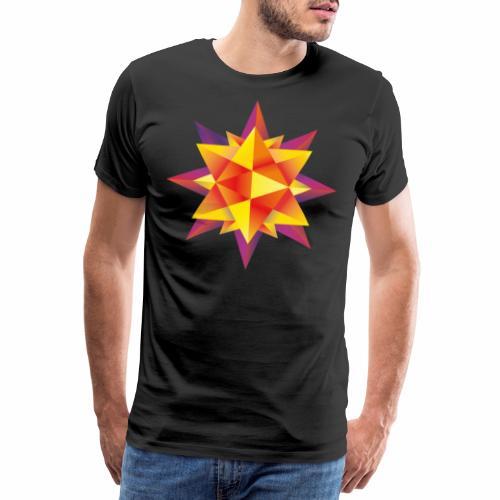 Abstract geometric star - Men's Premium T-Shirt