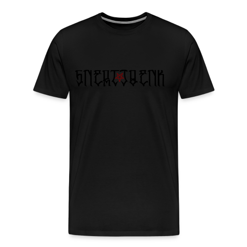 BLACK SNERTJOENK RED PENTAGRAM - Men's Premium T-Shirt