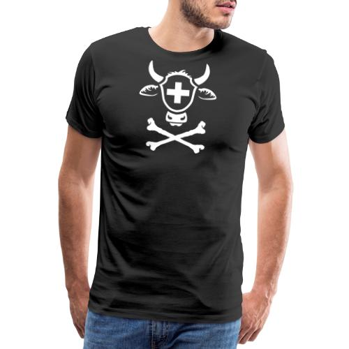 KUHKOPF IM TOTENKOPF TATTOO STYLE. T-SHIRT - Männer Premium T-Shirt