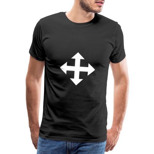 Pfeile oben unten links rechts weiss - Männer Premium T-Shirt