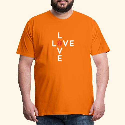 LOVE Cross white wuerfel red 001 - Männer Premium T-Shirt