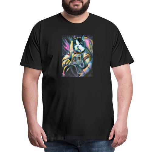 Gato Astronauta - Camiseta premium hombre