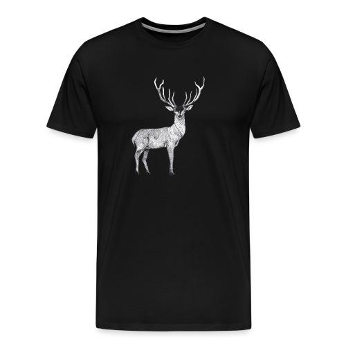 Hirsch Wald Tier Weihnachten Jagd Wild Geschenk - Männer Premium T-Shirt