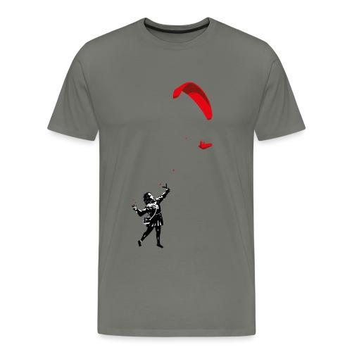 Mädchen mit Gleitschirm - Männer Premium T-Shirt