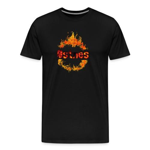 Østnes in flames - Premium T-skjorte for menn