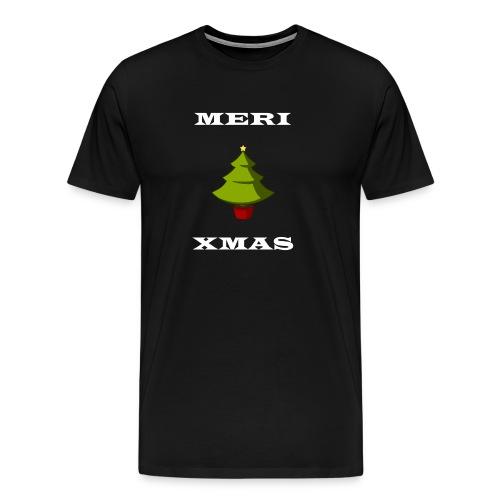 Frohe Weihnachten Baum Weiß - Männer Premium T-Shirt