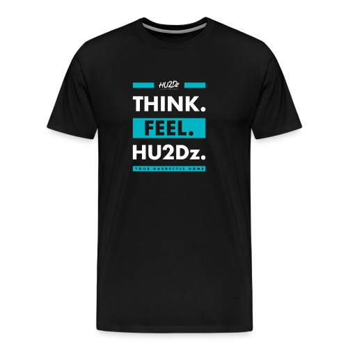 THINK FEEL HU2Dz White (Black Shirt) - Mannen Premium T-shirt