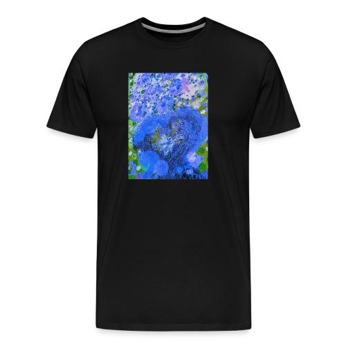 BLAUES HERZ - Männer Premium T-Shirt