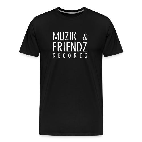 Muzik & Friendz Records Logo 2 - Mannen Premium T-shirt