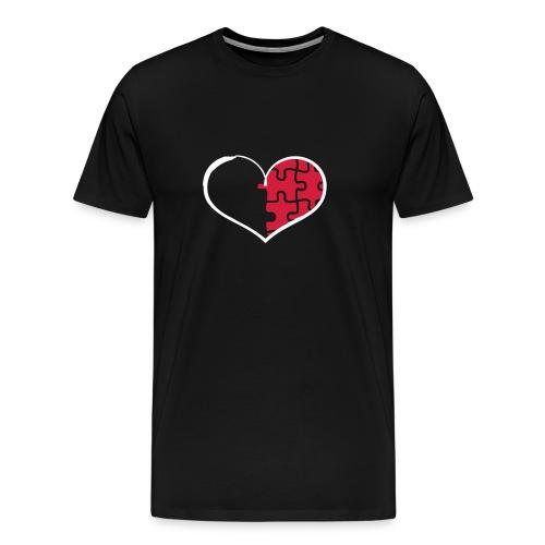 Half Heart Right - Men's Premium T-Shirt