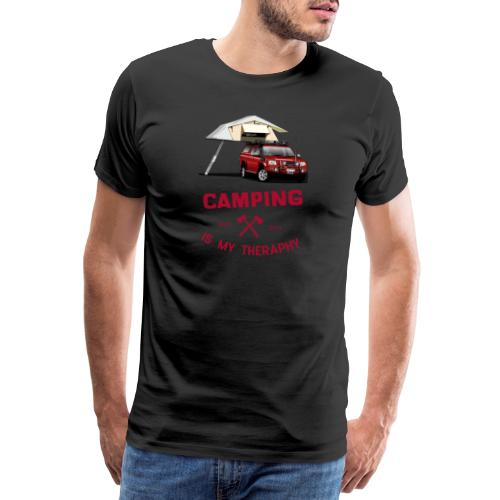 Camping is my Theraphy Dachzelt - Männer Premium T-Shirt
