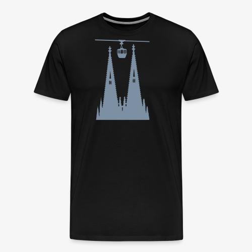 Köln - Domtürme plus Gondel - Männer Premium T-Shirt