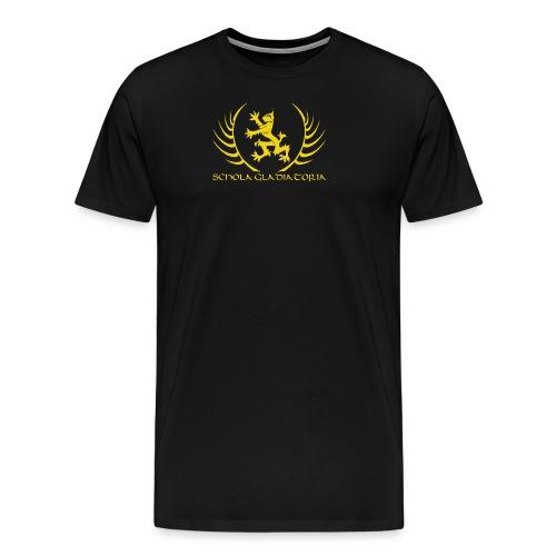 Schola logo with text - Men's Premium T-Shirt