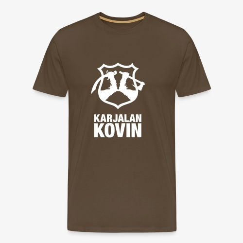 karjalan kovin pysty - Miesten premium t-paita