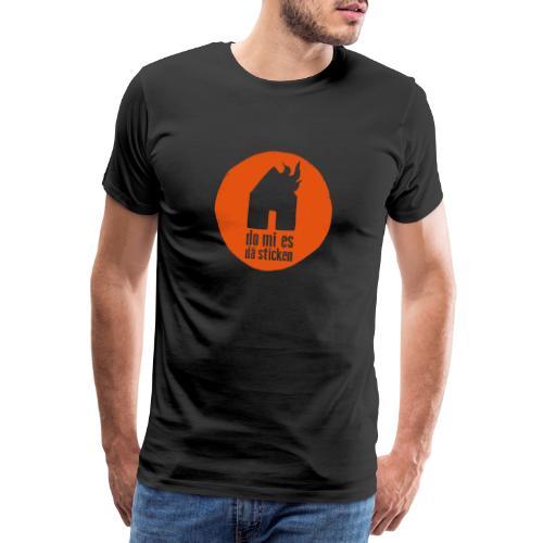 sticken rund - Männer Premium T-Shirt