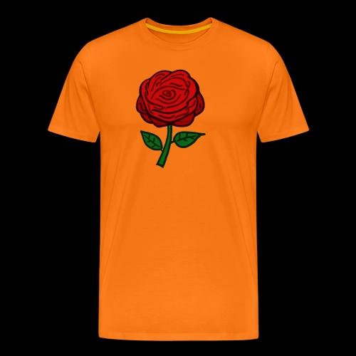 Rote Rose - Männer Premium T-Shirt