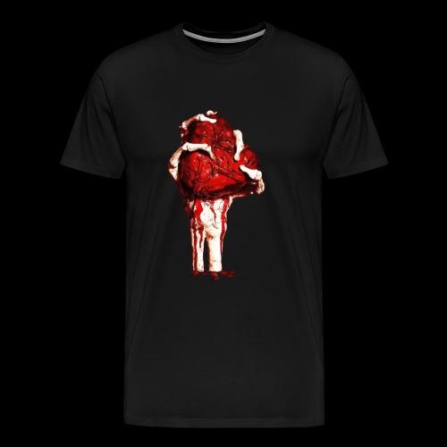mano con corazon - Camiseta premium hombre