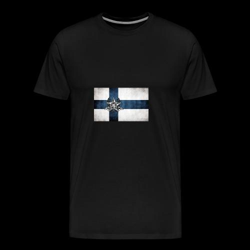Suomen lippu - Miesten premium t-paita