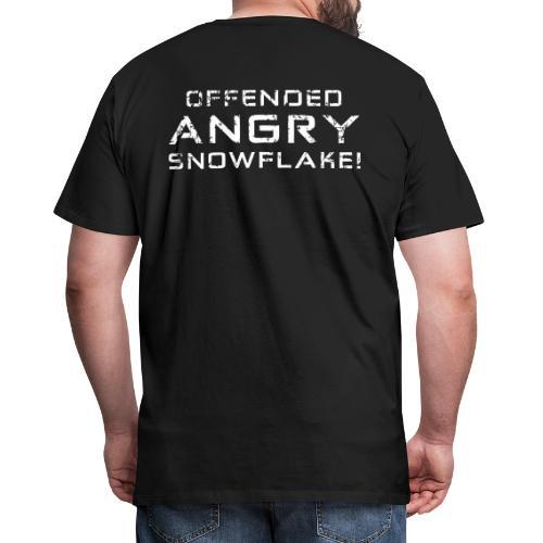 White Negant logo + OFFENDED ANGRY SNOWFLAKE! - Herre premium T-shirt
