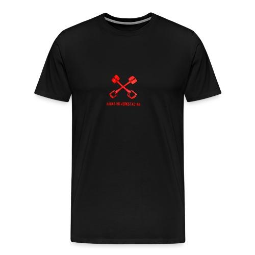 Bäcks bilverkstad - Premium-T-shirt herr