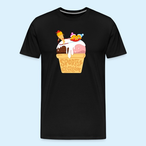 Sporty Ice Cream - Männer Premium T-Shirt