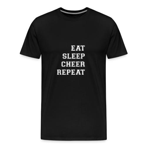 Eat Sleep Cheer Repeat - Men's Premium T-Shirt