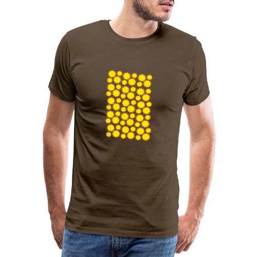 trama sole giallo - Maglietta Premium da uomo