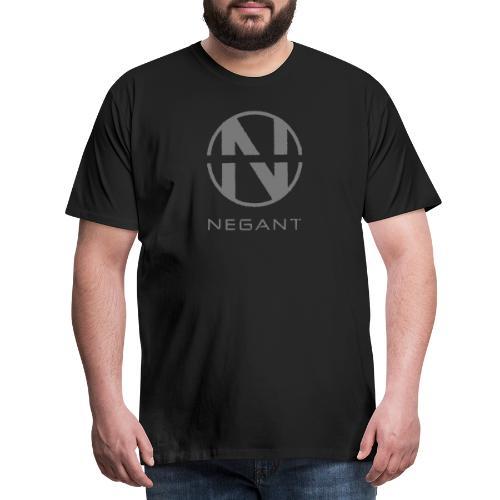 Grey Negant logo - Herre premium T-shirt