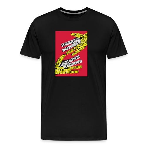 Flüchtlinge Willkommen r - Männer Premium T-Shirt