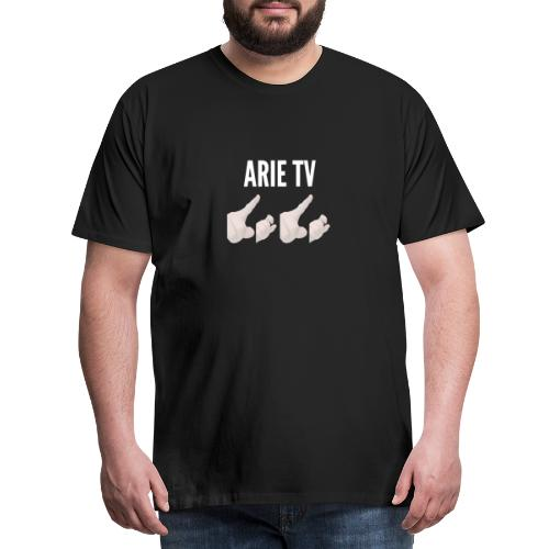 Arie TV- Logo wit - Mannen Premium T-shirt
