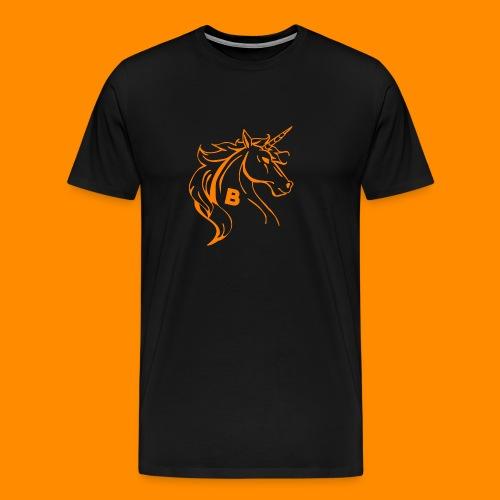 orange biodusty unicorn shirt - Mannen Premium T-shirt